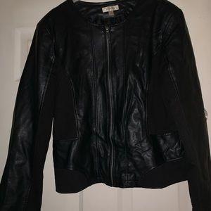 Dressbarn Faux Leather jacket- Size XL